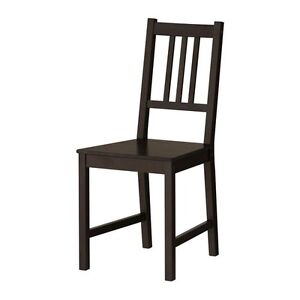 Ikea Stefan chairs (4 available) in black brown