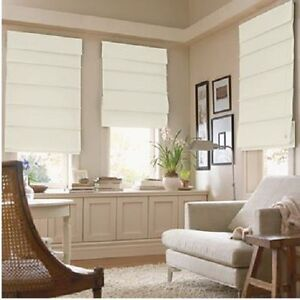 NEW SAVANNAH Roman Shade/Blind Light Filtering Fabric Fold Window Treatment NIB