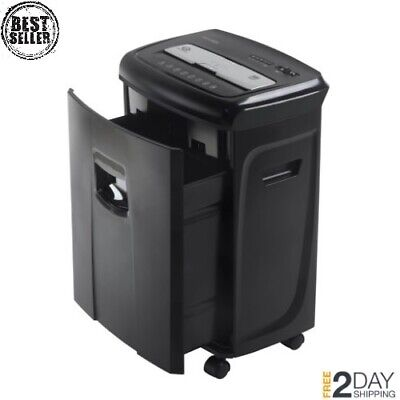 12 Sheet Paper Shredder Cross Cut Heavy Duty Ultra Quiet With Pullout Basket New