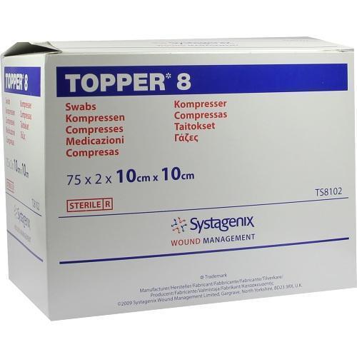 TOPPER 8 Kompr.10x10 cm steril 75X2 St
