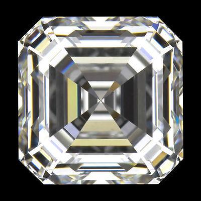 1.51 carat Asscher cut Diamond GIA G color VS1 clarity no flour. Excellent loose