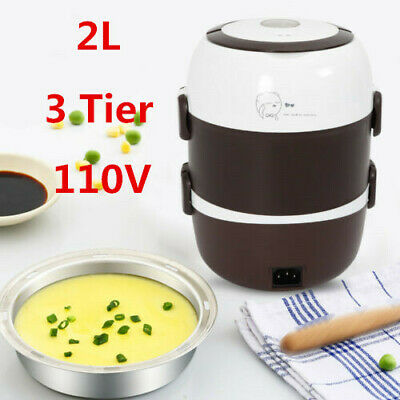 110V 2L Food Warmer Box Electric Heating Lunch Container Ben