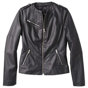 Mossimo® Women's Faux Leather Jacket -Assorted Colors