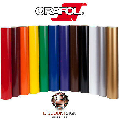 "10 Rolls Oracal 651 Craft/Sign Adhesive Vinyl 12"" x 5' (Feet) 63 Colors + Coral"