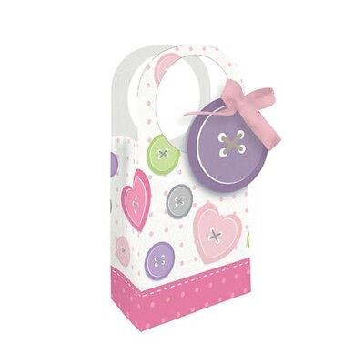 BABY SHOWER Cute as a Button GIRL FAVOR BAGS (12) ~ Party Supplies Treat