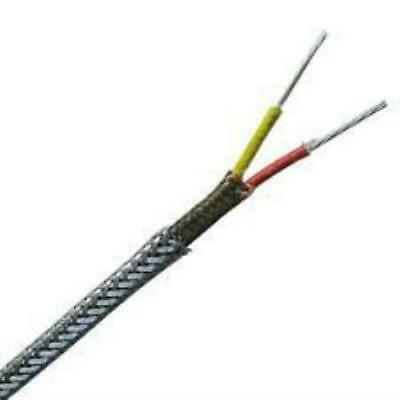 Thermocouple Type K 1000 Extension Wire Stainless Steel Over Braid K20-3-s-321