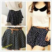 Chiffon Pleated Mini Skirt