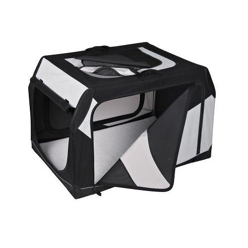 TRIXIE faltbare Transportbox Vario M-L Hundebox Autobox 91 x 58 x 61 cm