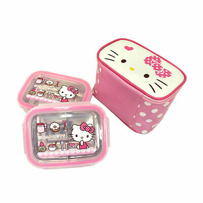 Hello Kitty Double Lock Stan Bag style Lunch Box Food Container