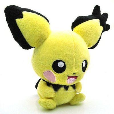 """Pokemon Center Pichu Pikachu Plush Doll Stuffed Animal Toy 8"""" Collection Gift US"""