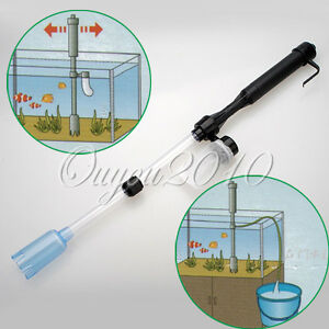 Aquarium Battery-Powered Syphon Fish Tank Vacuum Gravel Water Filter Cleaner