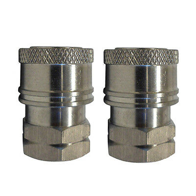 Pressure Washer Stainless Steel Female Coupler Fitting 14-inch Fnpt 2 Pack
