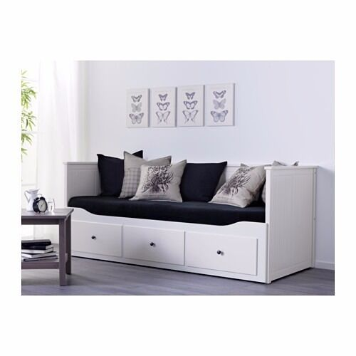 Hemnes day bed sofa single bed double bed storage by for Single bed sofa ikea