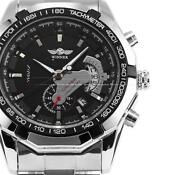 Mens Black Stainless Steel Watch