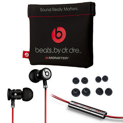 BLACK / SILVER urBeats by Dr Dre Earbuds with Mic In-Ear Beats Headphones