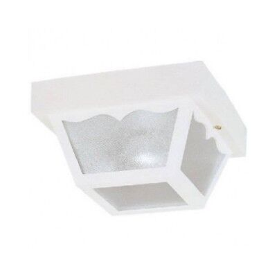 Outdoor Flush Mount Ceiling Fixture - Outdoor Porch Light White Fixture Ceiling Mount Flush Plastic Lantern Exterior