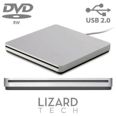 Externa Portátil USB Ranura Carga Plata Dvd-Rw Superdrive para Ordenador