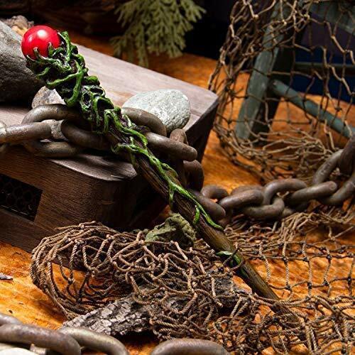 "Ebros Greenman Vine Red Orb Fantasy Sorcery Wizard Cosplay Toy Magic Wand 9.25""L"