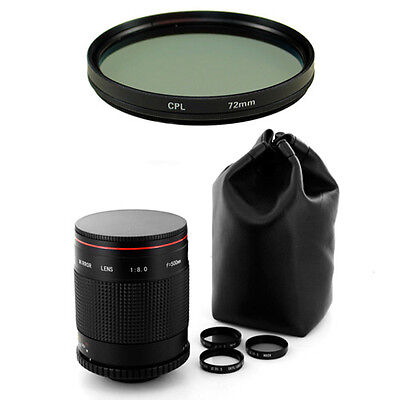 Albinar 500mm Mirror Lens for Canon EOS 5D 7D 60D 50D 30D 10D 1D 1Ds Rebel SL1