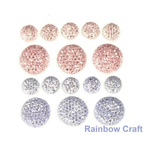 kaisercraft Bling Sparklets / Self Adhesive Rhinestones crystal ebony hearts - Princess