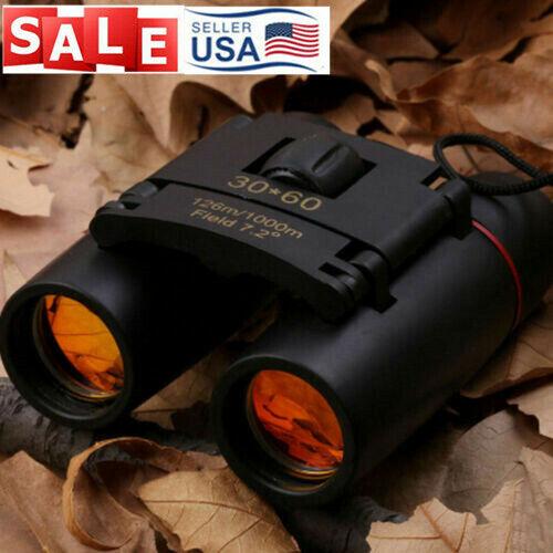 New Mini Binoculars 30x60 Zoom Telescope Outdoor Hunt Folding Day/Night Vision