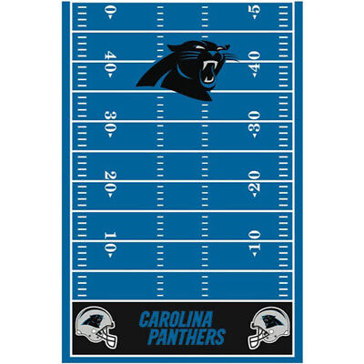 NFL CAROLINA PANTHERS PLASTIC TABLE COVER ~ Sports Birthday Party Supplies Cloth (Nfl Party Supplies)