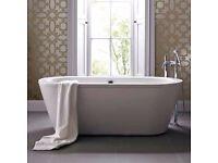 New Bathstore Freestanding Designer Trend Bath 1500 with Surround (RRP £729)