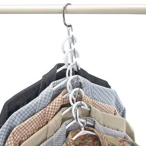 New Clothes Hanger Space Closet Saver 2 Pack Hangers Portable Folding Organizer