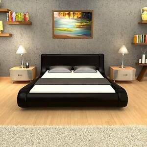 Luxo Kira King Size PU Leather Bed - Black Seven Hills Blacktown Area Preview