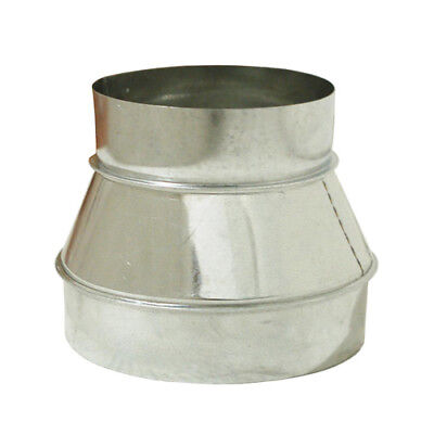"8"" x 6"" Inch Duct Reducer Galvanized Steel for Air Ducting Ventilation 8 to 6"