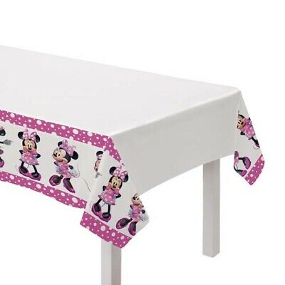 Minnie Mouse Birthday Table (MINNIE MOUSE Forever PLASTIC TABLE COVER~ Birthday Party Supplies)