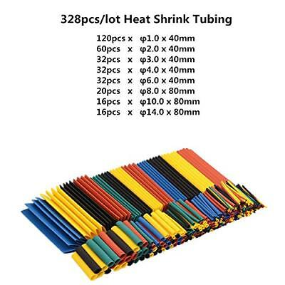 328pcs 21 Heat Shrink Tubing Tube Assortment Wire Cable Insulation Sleeving Kit