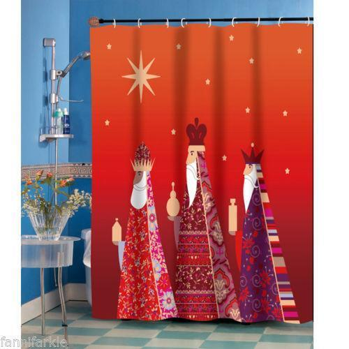 Christmas Shower Curtain Ebay