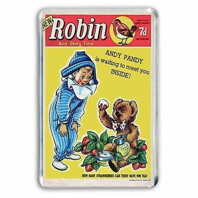 RETRO 60s - ANDY PANDY and TEDDY - ROBIN COMIC COVER JUMBO FRIDGE MAGNET