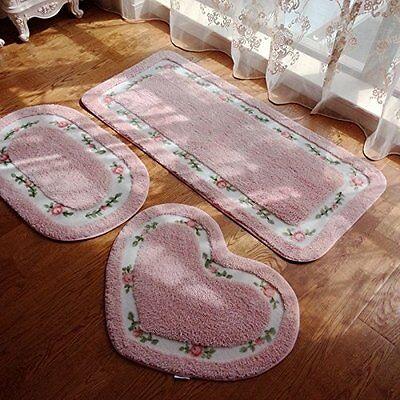 Modern Pink Rose Area Rug For Living Room, Designer Oval Dec