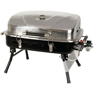 GRILLMATE STAINLESS STEEL PORTABLE TABLETOP GAS GRILL