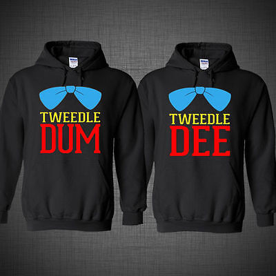 Halloween costume Tweedle Dee Dum couple matching cupid jacket sweatshirt - Tweedle Dee Tweedle Dum Halloween