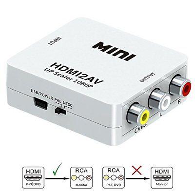 HDMI to RCA-GANA 1080P to AV 3RCA CVBs Best New Composite V/A Converter Adapter
