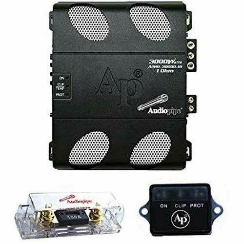 AUDIOPIPE APHD-3000D-H1 APHD SERIES FULL RANGE CLASS D MONO 3000W 1 OHM AMP NEW