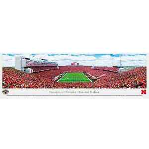 Nebraska Cornhuskers 13.5'' x 40'' Memorial Stadium Panoramic Print