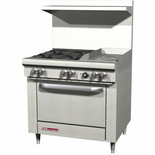 "Southbend S36d-1g 36"" Gas Range W/ Standard Oven 4 Open Burners W/ 12"" Griddle"