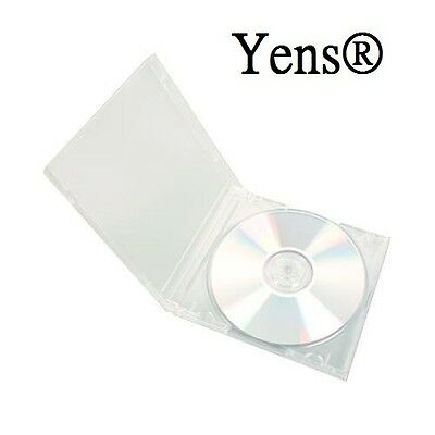 Yens 50 Pcs New Clear Single Standard Cd Dvd Jewel Case 10.2mm 5010ccd1