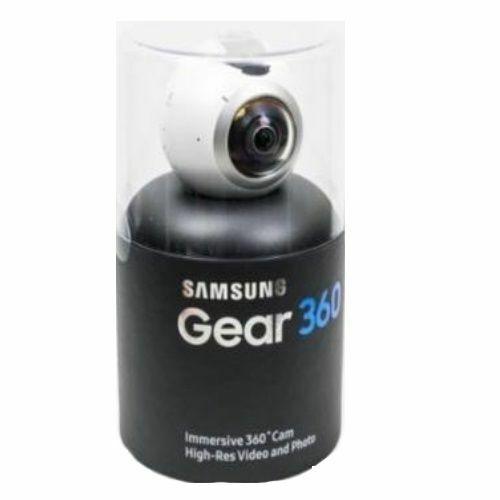 White Brand New Samsung Gear 360 Degree Camera SM-C200 4K Video And Photo