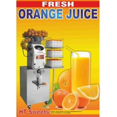 FRESH ORANGE JUICE POSTER