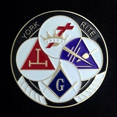 Masonic York Rite Car  Auto Emblem (YRA-1)
