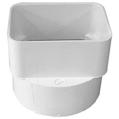 Genova 45344 Pvc Sewer Drain Downspout Adapter 3x4-inches