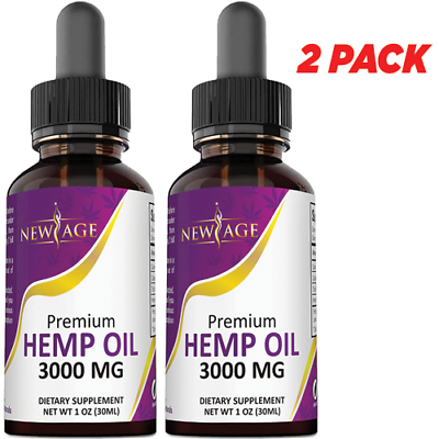 2-Pack 3000mg C Hemp Oil B for Pain Joints Stress Anxiety Relief D Sleep Aid NEW