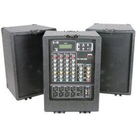 PORTABLE PA AUDIO SYSTEM - QTX SOUND PA 100 USB