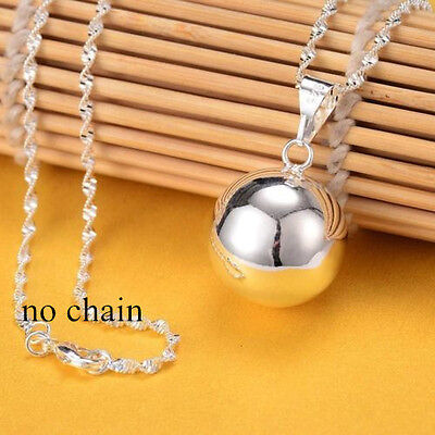 Bell Necklace (Fashion Jingle Bell Silver Round Bell Ringing Pendant Necklace Jewelry No)