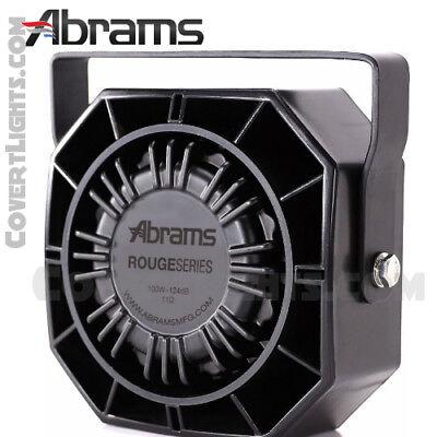 Rouge 100 Watt Siren Speaker High Performance By Abrams 5yr Warranty